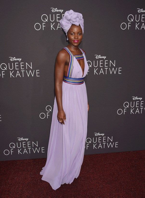 <P><strong>LUPITA NYONG'O IN ELIE SAAB</strong> <BR><BR> For the Hollywood premiere of Queen of Katwe, Nyong'o stunned in a purple Elie Saab gown and head-wrap.