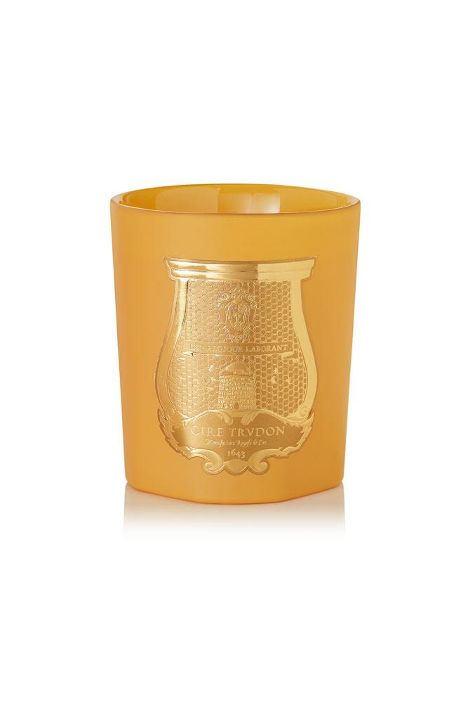 "Light a scented candle or two just before guests arrive, like this luxe citrusy version. <br><br> <a href=""https://www.net-a-porter.com/au/en/product/727467/Cire_Trudon/cyrnos-scented-candle-270g"">Cyrnos Scented Candle, $110, Cire Trudon at net-a-porter.com</a>"