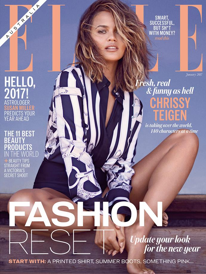 <p>See the full shoot and interview in the January 2017 issue of <em>ELLE Australia</em>, on sale Monday, December 19. <p>Photographs: Mike Rosenthal <br>Styling: Rachel Wayman <br>Hair: Jen Atkin <br>Makeup: Mary Phillips <br>Manicure: Kimmie Kyees