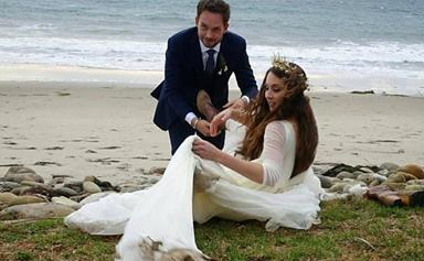 Troian Bellisario's Reception Dress Might Have Been Even Dreamier Than Her Wedding Dress