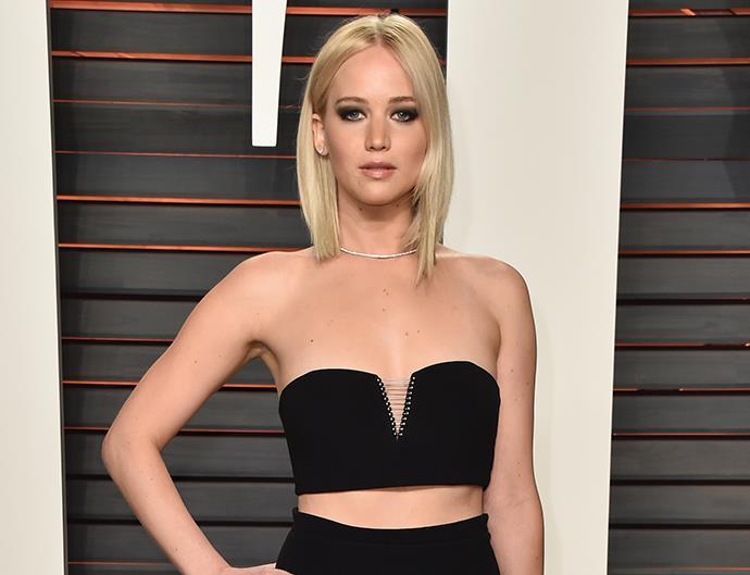 Jennifer Lawrence Vanity Fair Oscars party