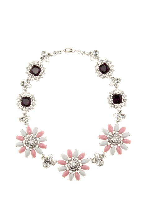 "<p>Crystal-Embellished Necklace, approx. #1,420, <a href=""http://www.mytheresa.com/en-de/crystal-embellished-necklace-496379.html?catref=category"" target=""_blank"">Miu Miu at mytheresa.com</a>."