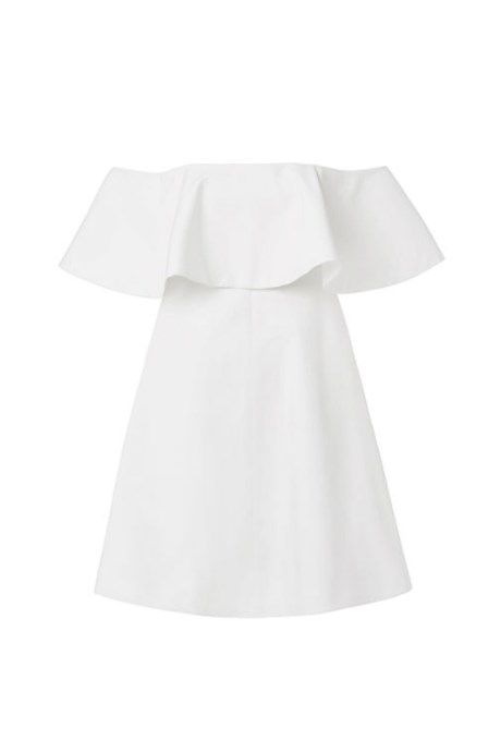 "<p>Off Shoulder Frill Dress, $189.95, <a href=""http://www.seedheritage.com/p/off-shoulder-frill-dress/3804034-1-10-se.html"" target=""_blank"">Seed Heritage</a>."