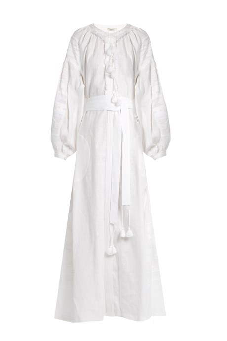 "<p>Macedonia Embroidered Linen Midi Dress, approx. $2,545, <a href=""http://www.matchesfashion.com/products/Vita-Kin-Macedonia-embroidered-linen-midi-dress-1068354"" target=""_blank"">Vita Kin at matchesfashion.com</a>."