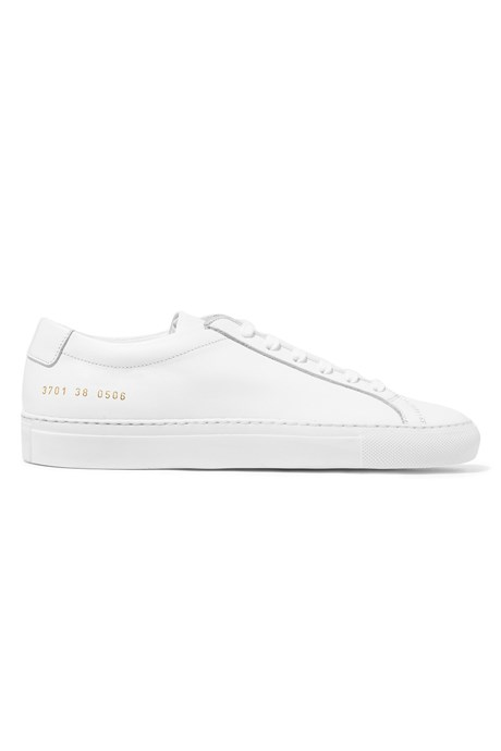 "<p>Original Achilles Leather Sneakers, $551, <a href=""https://www.net-a-porter.com/au/en/product/729009"" target=""_blank"">Common Projects at net-a-porter.com</a>."