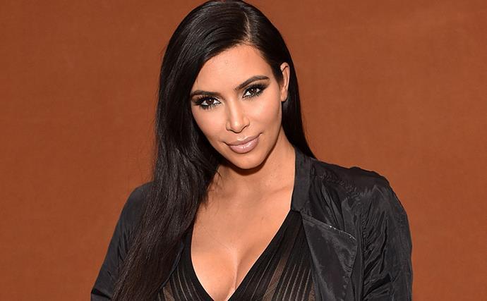 Kim Kardashian and Saint West.