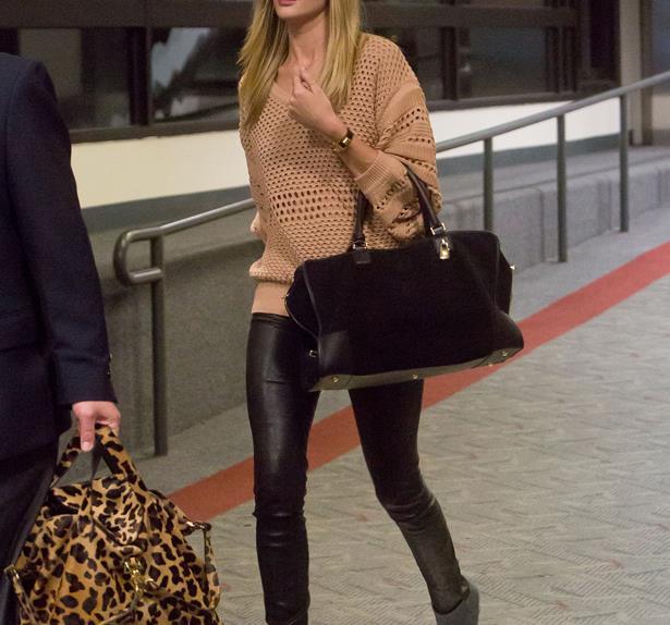 Rosie Huntington-Whiteley airport.