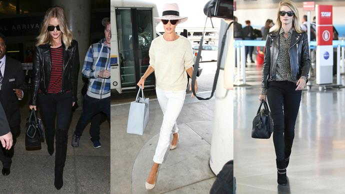 """<p>Rosie Huntington-Whiteley has revealed why she always looks so chic at the airport—it's her armour!<p> <p> """"People probably think I'm overdressed for the airport,"""" she told <a href=""""http://www.instyle.com/fashion/rosie-huntington-whiteley-design-collaborations"""">InStyle</a>, """"But that's just me—a great outfit is my armour. I feel confident and ready to face the world."""