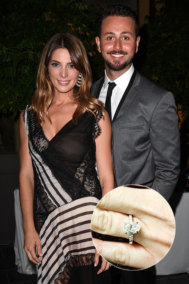 ***Ashley Greene***.<br><Br> Ashley Greene took to Instagram to show off her brand new oval-cut diamond, that she received from longtime boyfriend Paul Khoury.