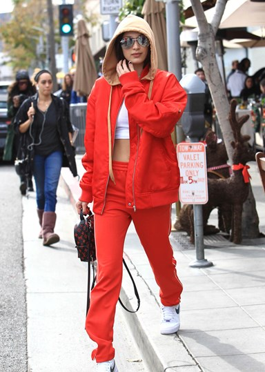 The Bella Hadid Guide To Wearing A Tracksuit Outside The Locker Room