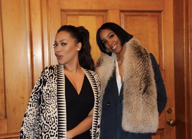 "La La Anthony and Kelly Rowland <br><br> <a href=""https://www.instagram.com/lala/"">@lala</a>"