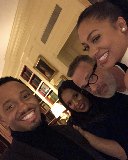 "Terrance J, News Caster, Tom Hanks and La La Anthony <br><br> <a href=""https://www.instagram.com/p/BO-Y97ADfc6/"">@lala</a>"