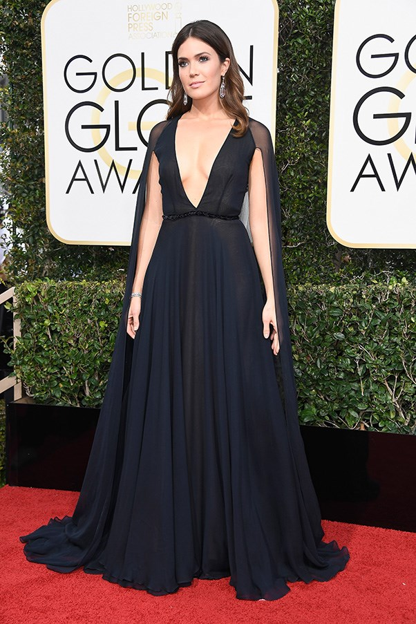 Mandy Moore in Naeem Khan.