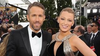 Ryan Reynolds Blake Lively at 2017 Golden Globes