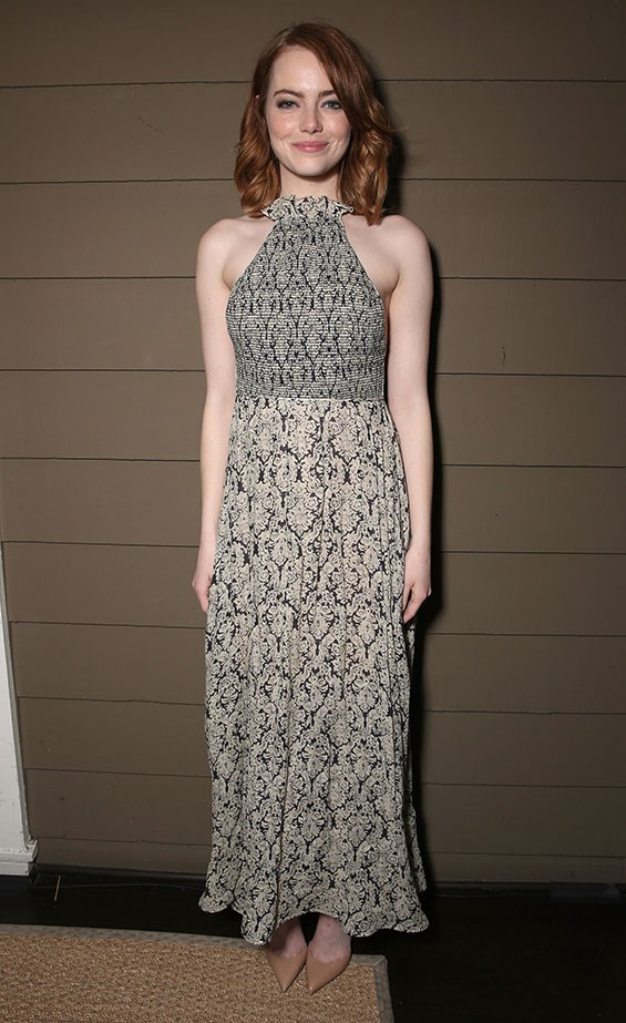 <p>Emma attended a special screening of <em>La La Land</em> in a Rosie Assoulin dress and Christian Louboutin shoes.