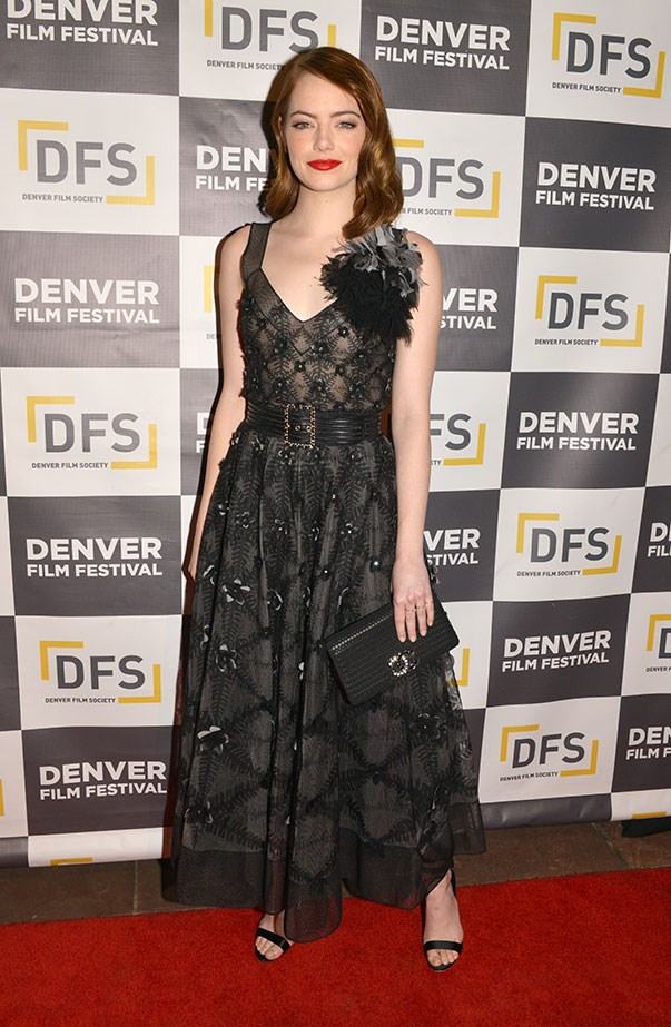 <p>Emma wore Chanel for the <em>La La Land</em> premiere at the Denver Film Festival.