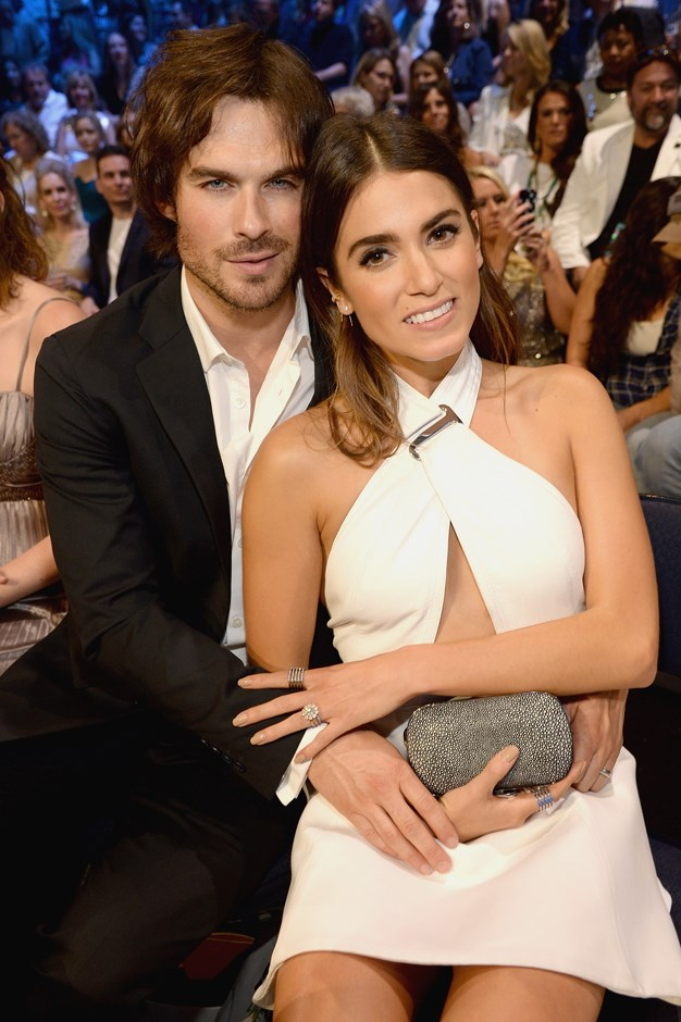 **Who?** Nikki Reed and Ian Somerhalder.  **How long?** Seven months.  **Did it last?** Nikki, clearly not a fan of long engagements, married Ian just two months after getting engaged. They're still happily married.