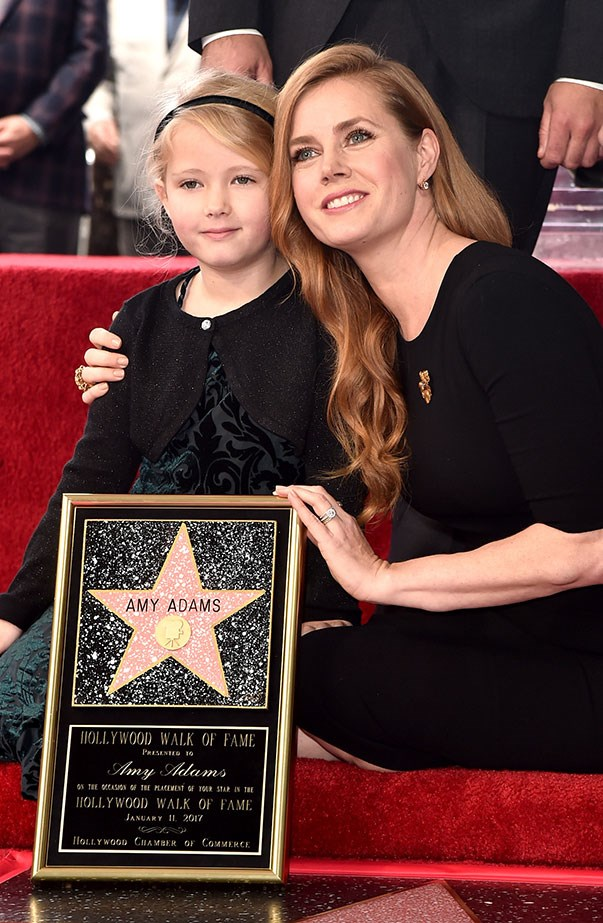 **Amy Adams and Aviana Adams** <br><br> Amy Adams' six-year-old daughter Aviana made her public debut at the unveiling of her mother's star on the Hollywood Walk of Fame in January, and people commented on how much they looked alike.