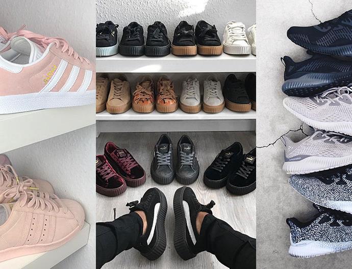 Amazing sneaker wardrobes