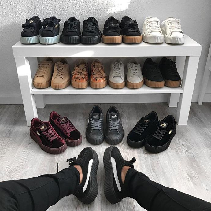 "<p>Sandra's Fenty x Puma collection is off the charts. <p>Image: <a href=""https://www.instagram.com/p/BOASAWMl3J3/"">@sandralambeck</a>"