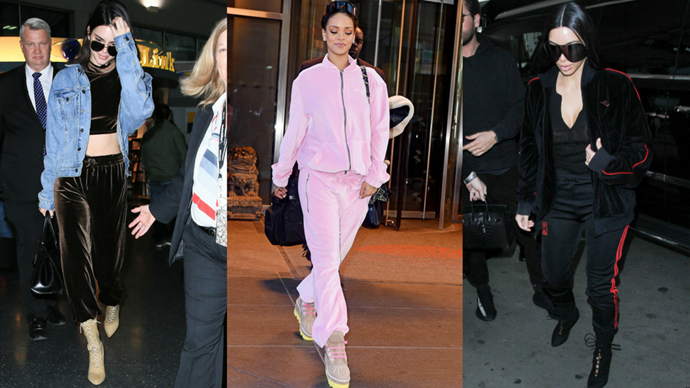 <p>It's official: velour tracksuits are back. Following Juicy Couture's collab with Vetements at Paris Couture Fashion Week last year, celebs can't stop wearing the early '00s trend. Proof to follow.