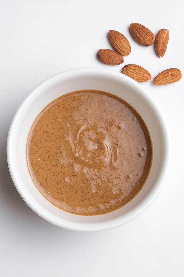<strong>Fresh fruit and nut butter</strong> Fruit is a great source of vitamins, minerals and fibre and the addition of nut butter helps to slow the absorption of sugars in the fruit and increase satiety. Nut butter's also easily stored in your desk. If you're prone to entering lunch in a state of starvation, this is a good morning snack choice.