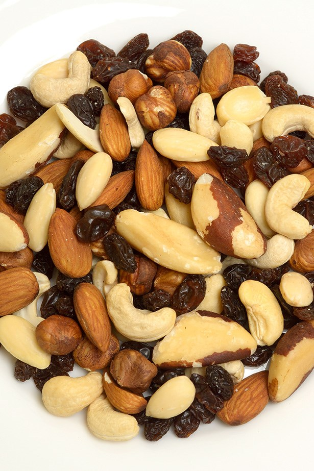<strong>Raw nut and seed mix</strong> This fuss and mess-free snack offers a source of plant-based protein, antioxidants and healthy fats that are sure to curb that appetite until your next meal. A handful may also reduce sugar cravings. Walnuts in particular are rich in omega-3 fatty acids, and as the brain is approximately 60% fat, they're linked to improved mood.