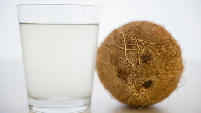 <strong>Small carton of coconut water</strong> Coconut water is a healthy alternative to soft drink when the 3pm sugar cravings hit. It also helps maintain your hydration, which is so important for concentration.