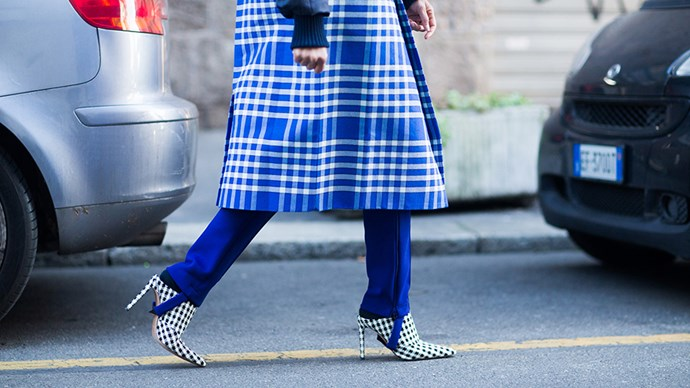 Jacquemus Blue Check Coat Trend