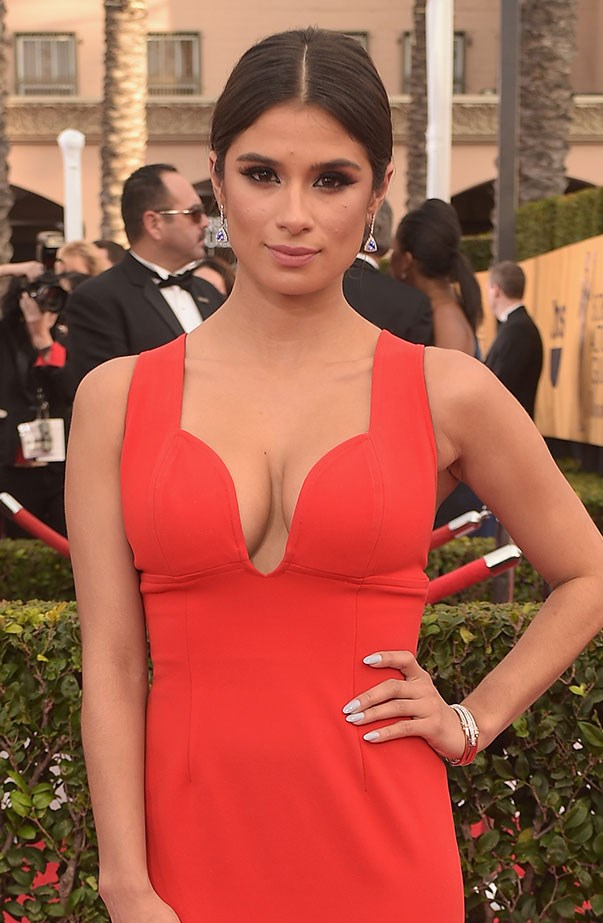 <p>Women's March: Diane Guerrero from <em>Orange Is the New Black</em>.