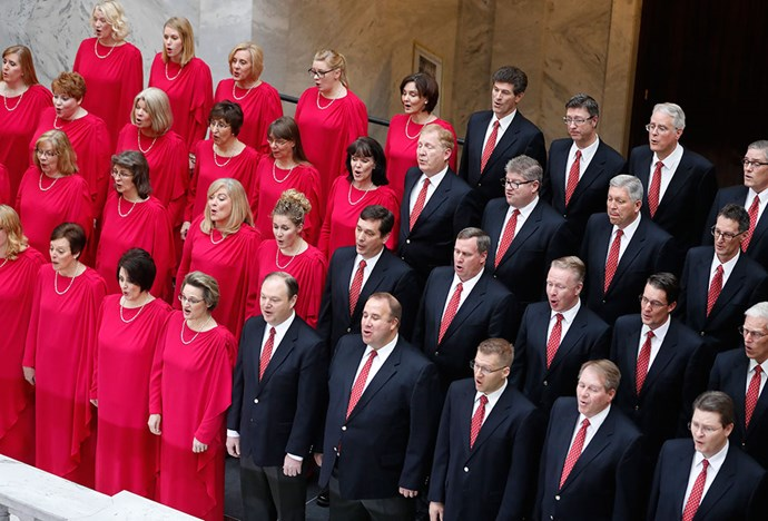 <p>Trump's inauguration: The Mormon Tabernacle Choir.
