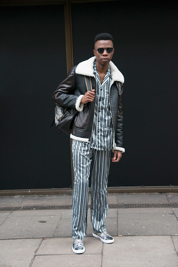 <strong>5. Don't be afraid to power clash</strong><br><br> On paper, a silk pyjama set worn under a shearling coat doesn't work. In real life? Different story. Throw unlikely prints and textures together, and if you like the result, wear it with complete confidence.