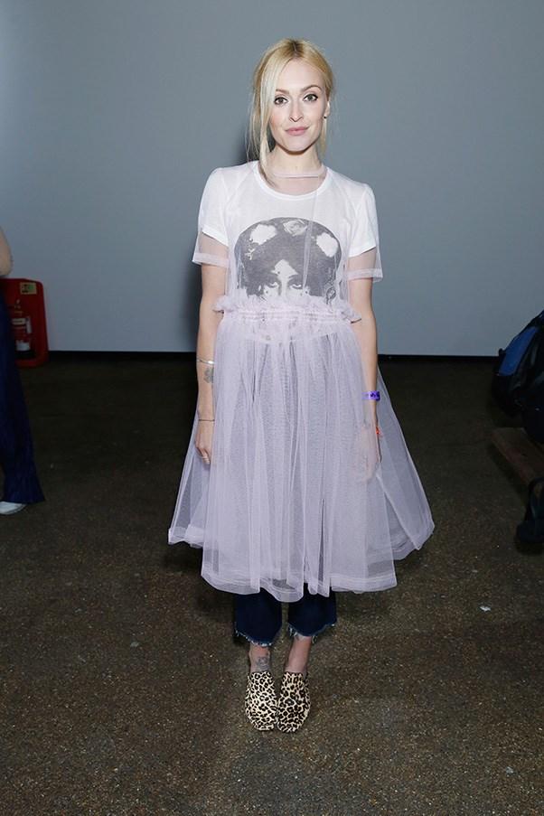 Fearne Cotton in Molly Goddard at London fashion week.