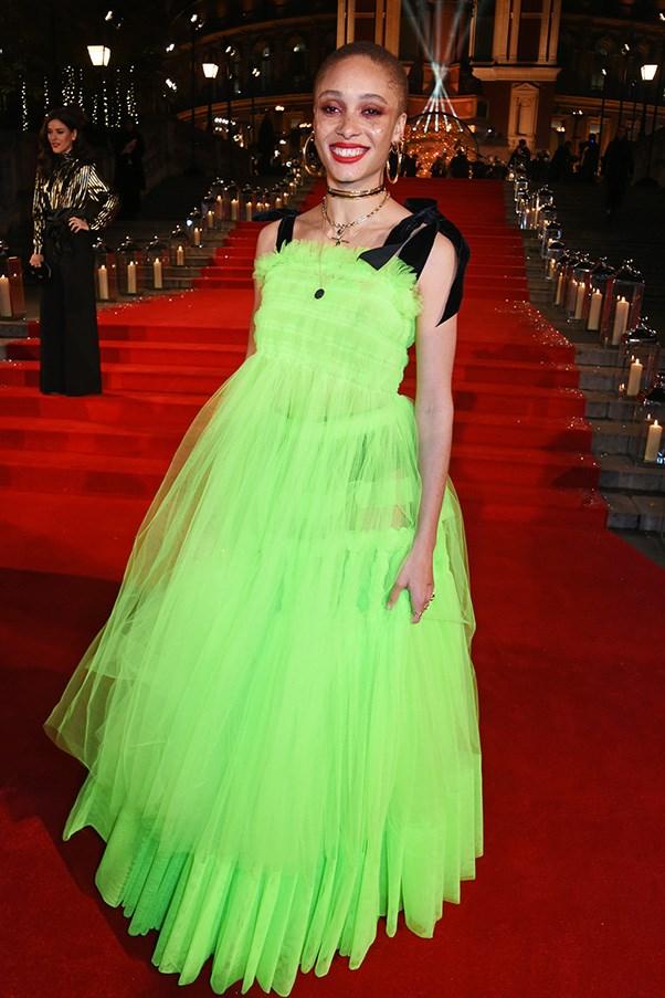 Adwoa Aboah in Molly Goddard at the 2016 Fashion Awards.