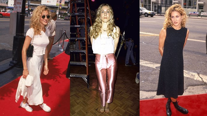 Just like her on-screen alter-ego, Sarah Jessica Parker always puts her best foot forward in the fashion department. But rather than her sartorial skills representing a post-Carrie effect, SJP was sporting chic outfit inspiration <em>throughout</em> the '90s, way before <em>Sex And The City</em> launched in '98. Here<em> ELLE </em>rounds up SJP's best '90s fashion moments.