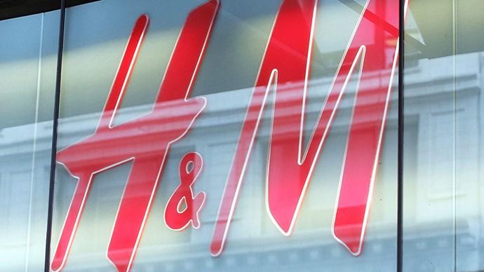 H&M sign.