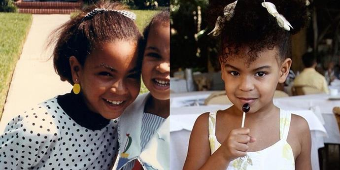 <strong>Beyoncé and Blue Ivy Carter</strong> <br><br> At 5.