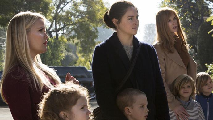 """<p><strong>Big Little Lies</strong> <p><strong>Premiere: February 2017 </strong> <p>In what's likely HBO's biggest casting coup since McConaughey and Harrelson, this adaptation of Liane Moriarty's blackly comic novel stars Nicole Kidman, Reese Witherspoon and Shailene Woodley. The trio play mothers of first-graders at the same California school, and their lives spin out of control when all three are linked to a local murder. <p>Watch the trailer <a href=""""https://www.youtube.com/watch?v=DzeZ0HoApl8"""">here</a>."""