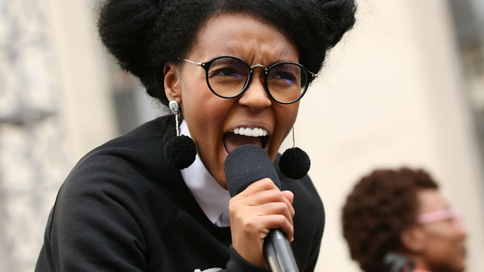 """<p><strong>Janelle Monáe</strong> <br><br> """"It was woman that gave you Dr. Martin Luther King, Jr. It was woman that gave you Malcolm X. And according to the Bible, it was a woman that gave you Jesus. Don't you ever forget it."""""""