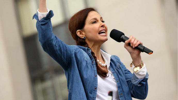 """<p><strong>Ashley Judd reciting the words of 19-year-old Nina Donovan from Middle, Tennessee</strong> <br><Br> """"Our pussies ain't for grabbing. They're for reminding you that our walls are stronger than America's ever will be. Our pussies are for our pleasure. They are for birthing new generations of filthy, vulgar, nasty, proud, Christian, Muslim, Buddhist, Sikh—you name it—for new generations of nasty women. So if you a nasty woman, or you love one who is, let me hear you say, hell yeah."""""""
