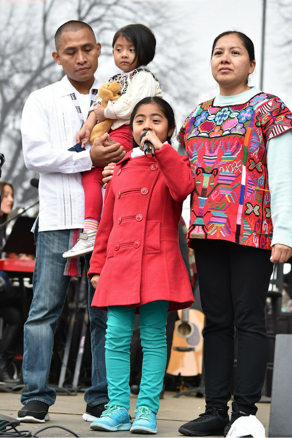 "<p><strong>Sophie Cruz, 6-year-old immigration activist</strong> <br><Br> ""Let us fight with love, faith and courage so that our families will not be destroyed. I also want to tell the children not to be afraid, because we are not alone. There are still many people that have their hearts filled with love. Let's keep together and fight for the rights. God is with us."""
