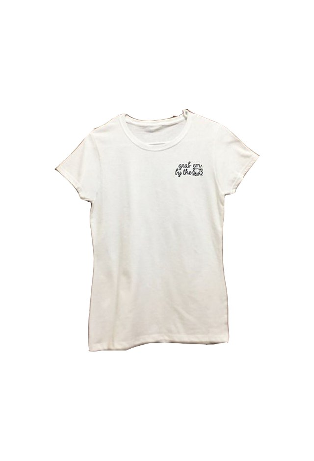 """<p> Tee, approx. $33, <a href=""""https://www.the-outrage.com/collections/t-shirts/products/donald-t-shirt"""">The Outrage</a>.<p> <p> 15% of the proceeds go to the <a href=""""http://now.org/"""">National Organization for Women</a>."""