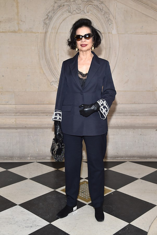 Bianca Jagger at Dior