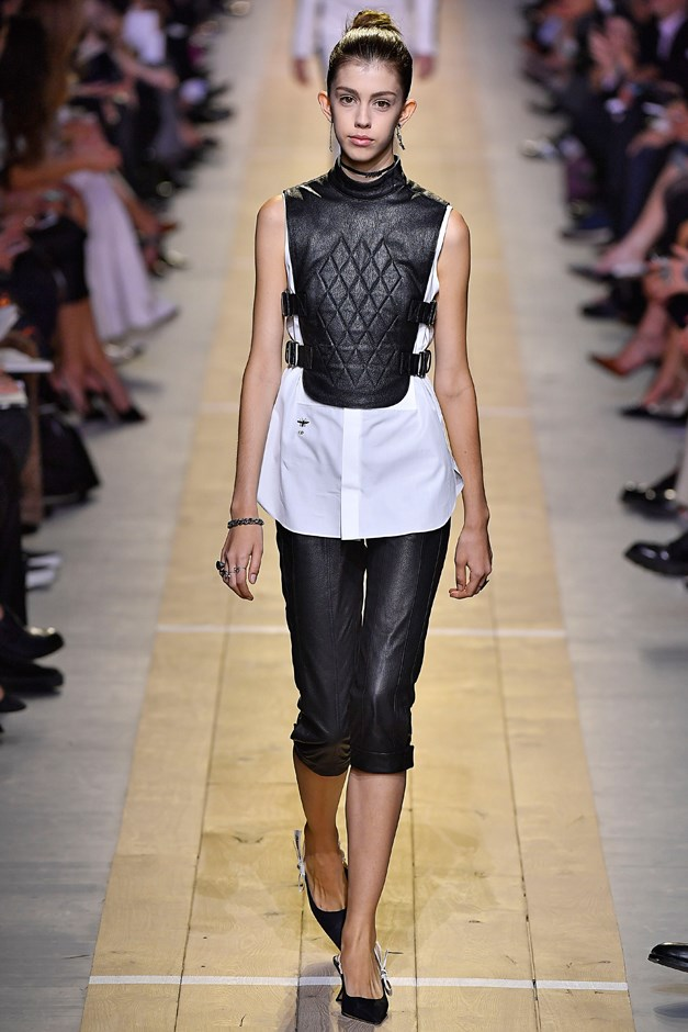 Whilst Dior went with soft leather.