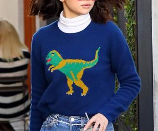 Selena Gomez Coach Dinosaur Jumper