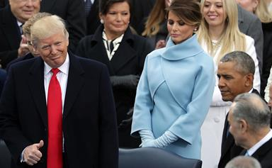 This 'Icy' Exchange Between Melania And Donald Trump At The Inauguration Is Going Viral