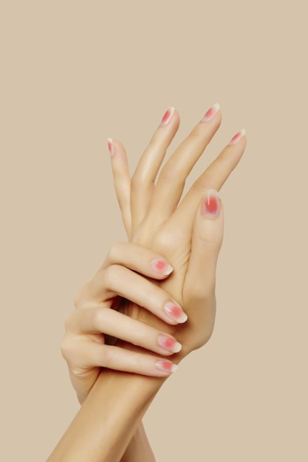 """<strong>Cheeky Tints</strong> <br><br> """"I was first introduced to this trend in Taiwan and was told it has already become quite popular all over Asia"""" Poole told us. """"The idea is that the nail looks as though it is blushing. """" To get the look, softly dab a coral lacquer to the centre of your nail to create a soft flush that mimics rosy cheeks. """"This trend is great for summer because of its lightweight feel and feminine colour way."""""""