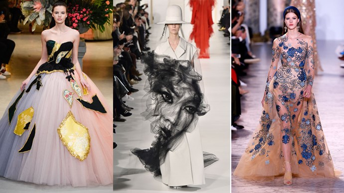 Marvel at the most jaw dropping, over-the-top, amazing gowns from couture fashion week.