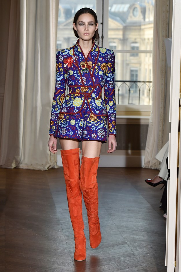 <p>Evidence #6: Schiaparelli plays with short-suits in its Spring/Summer 2017 show.