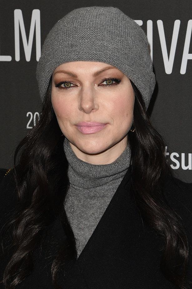 <strong>Laura Prepon</strong> <br> <br> The Orange Is The New Black star has liquid liner down, but the chalky muted pink lip is a new edition to her signature look and it works.